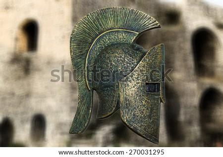 Spartan -Gladiator Helmet - stock photo
