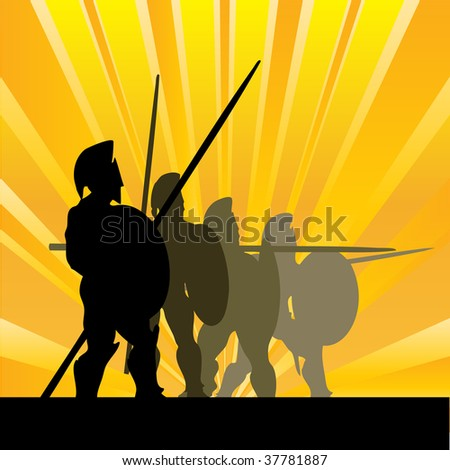 Spartan Sunrise Bitmap Background - stock photo