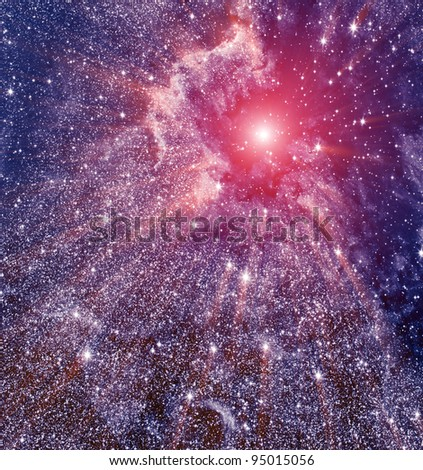 Spase nebula - stock photo
