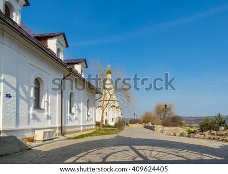 Spaso-Preobrazhensky Vorotynsky Convent near Kaluga, Russia - stock photo
