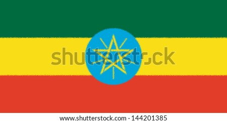 Spatter flag illustration of Ethiopia