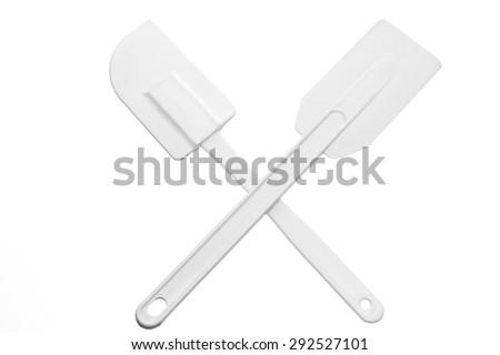 Spatula on White Background - stock photo