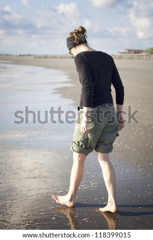 Spaziergang am Strand - stock photo