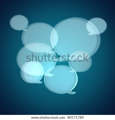 Speak Bubbles, Talk Balloons - stock photo