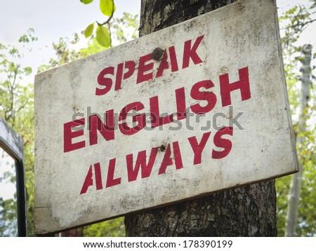 Speak English - stock photo