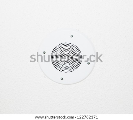 speaker ceiling - stock photo