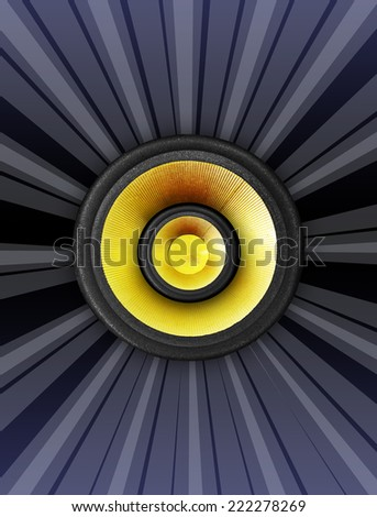 speaker design background - stock photo