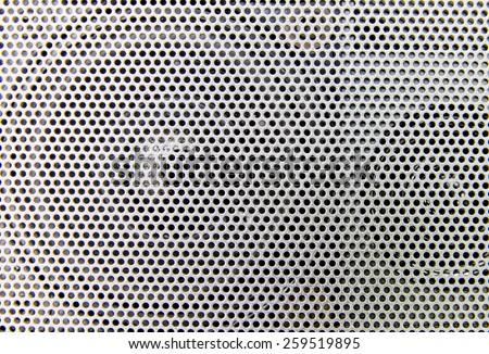 Speaker grille. - stock photo