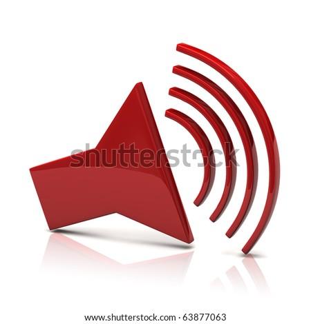 Speaker icon - stock photo