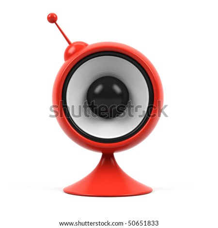 Speaker isolated on a white. - stock photo
