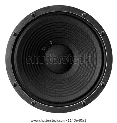 Speaker isolated on white background. - stock photo