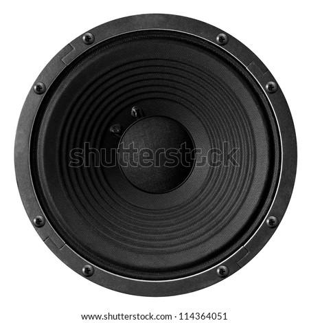 Speaker isolated on white background. - stock photo