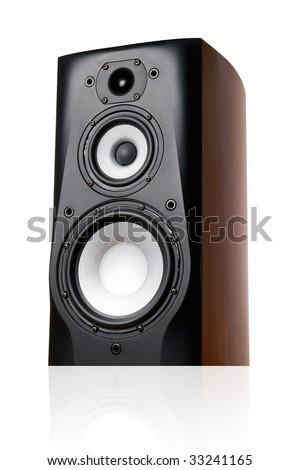Speaker on white background (isolated). - stock photo