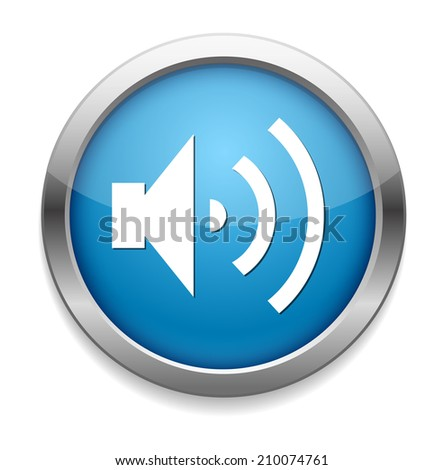 Speaker Volume icon - stock photo