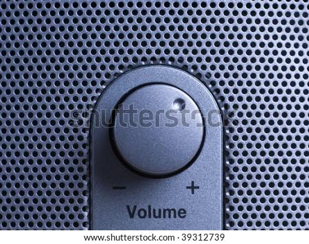 speaker volume  knop - stock photo