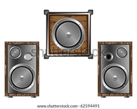 speakers against white background, abstract art illustration; for vector format please visit my gallery
