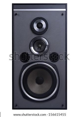 Speakers isolated on white - stock photo