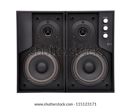 speakers on a white background - stock photo