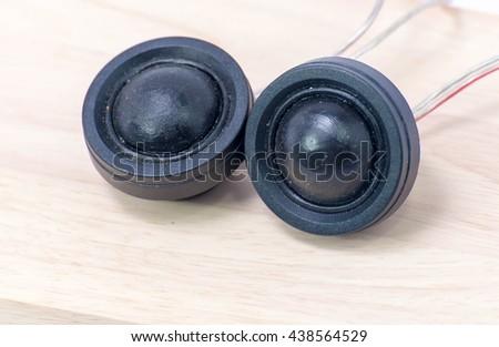 speakers on white - stock photo