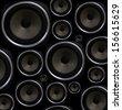 Speakers seamless background - stock