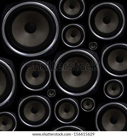 Speakers seamless background - stock photo