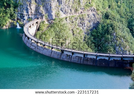 Speccheri dam, Alps, province of Trentino-Alto Adiges, Bolzano, Italy  - stock photo