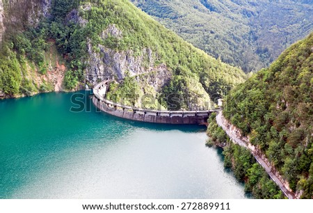 Speccheri dam, Alps, province of Trentino-Alto Adiges, Bolzano, Italy - stock photo