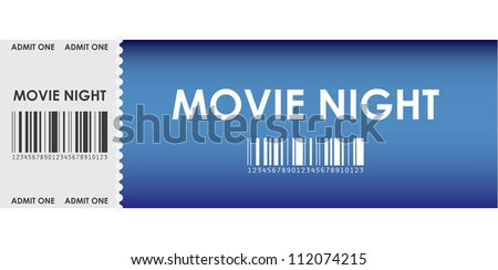 special blue movie ticket - stock photo