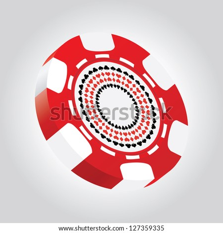 special 3d poker chip - stock photo