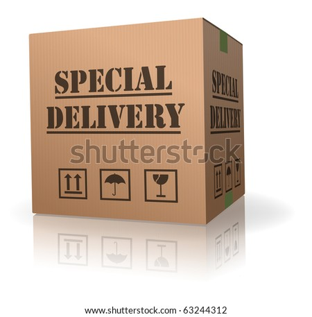 special delivery important shipment special package sending express shipping - stock photo