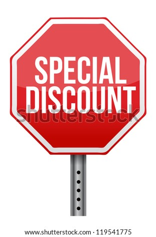 special discount illustration design over a white background - stock photo