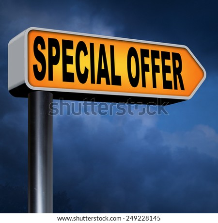 special discount offer exclusive bargain promotion low hot price best value  - stock photo
