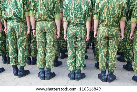 Special division of the belarussian army on parade - stock photo