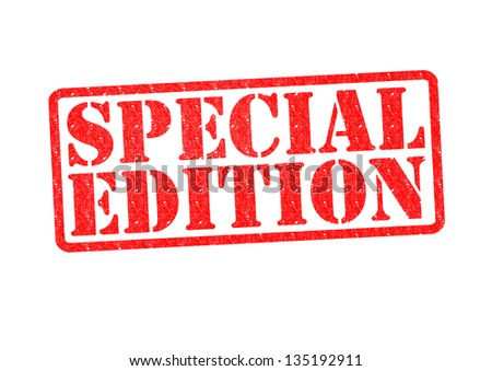 SPECIAL EDITION Rubber Stamp over a white background. - stock photo