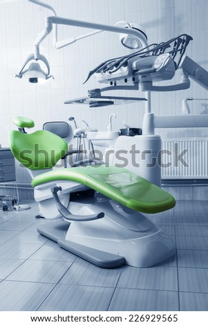 Special equipment for a dentist, dentist office - stock photo
