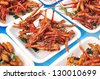 Special food , Fried grasshoppers in thailand - stock photo