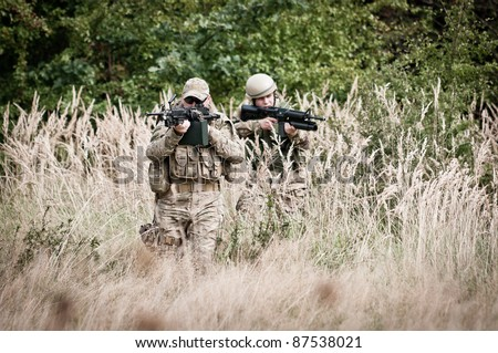 Special forces assault - stock photo