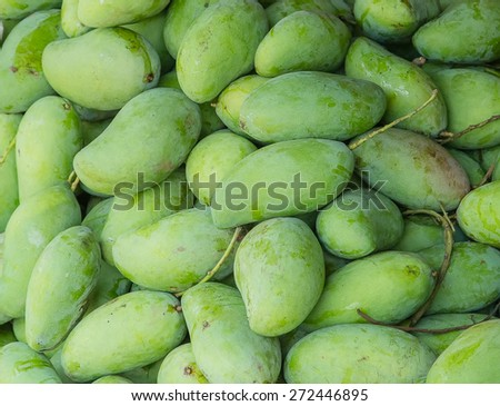 Special green mango full frame background