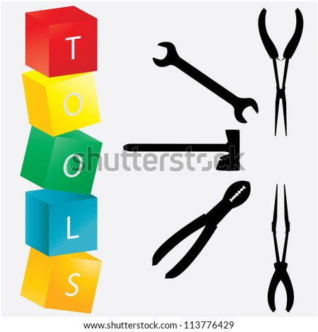 special industrial tools - stock photo