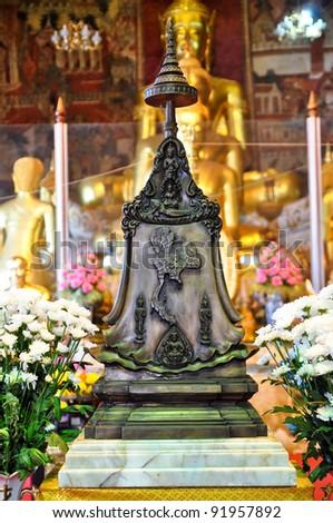 Special metal sculpture religious. Symbol of Thailand - stock photo