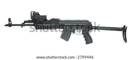 special modification of kalashnikov - stock photo