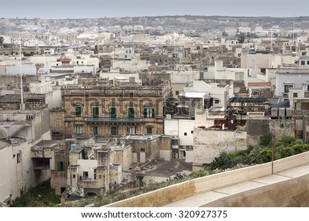 Special mood of a city landscape in malta - stock photo