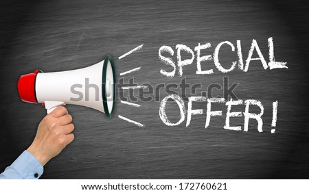 Special Offer ! - stock photo