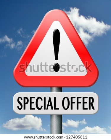 special offer bargain promotion low hot price best value - stock photo
