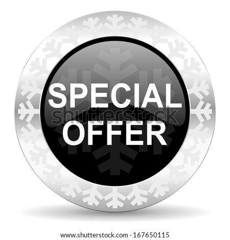 special offer christmas icon - stock photo