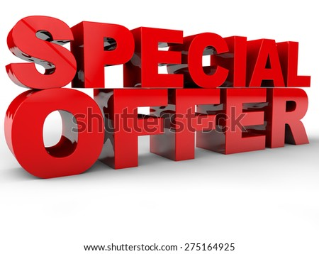 Special Offer - 3D Text over white Background - stock photo