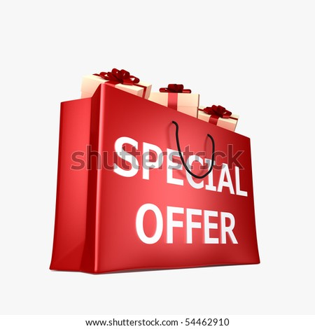 Special Offer Shopping Bag - stock photo