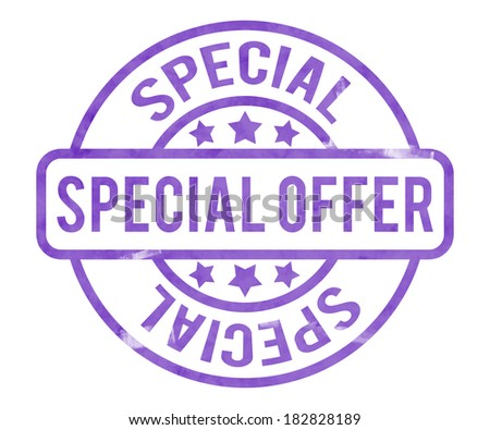 Special Offer Stamp - stock photo
