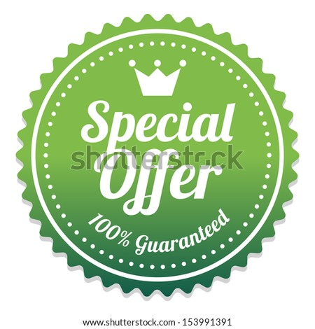 Special Offer Sticker and Tag Vintage and Gradient - Green - stock photo