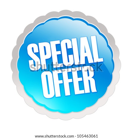 Special offer sticker - isolated on white background - stock photo